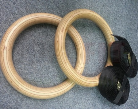 Wooden Gym Rings - 4