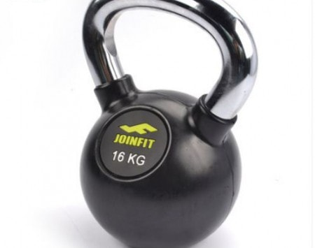 Joinfit 2016 Chrome Handled Rubber Coated KettleBell - 2